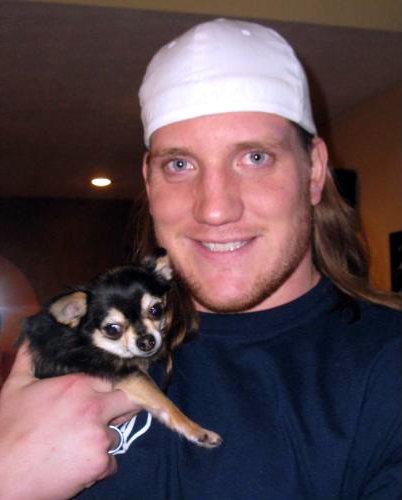 AJ Hawk With Cat