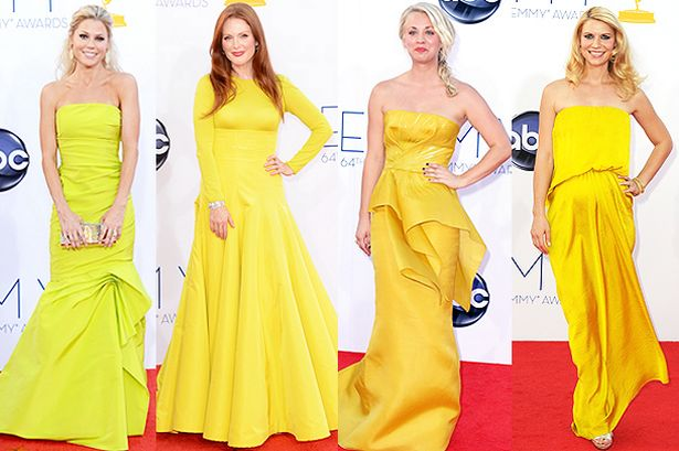 Emmys Yellow Dressed