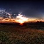 Sunset in Fields