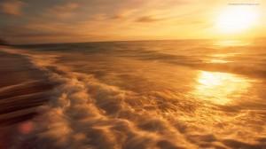 Sunset in Sea