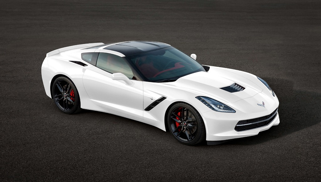2014 White Chevy Corvette C7 Stingray Car HD Wallpaper