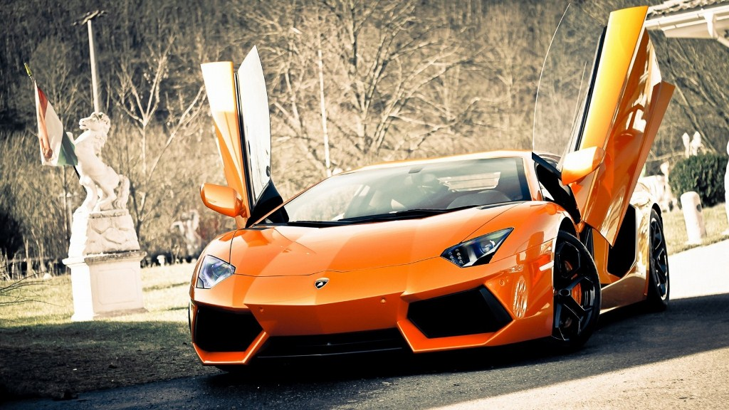 2014 Lamborghini Aventador Sports Cars Background Wallpaper