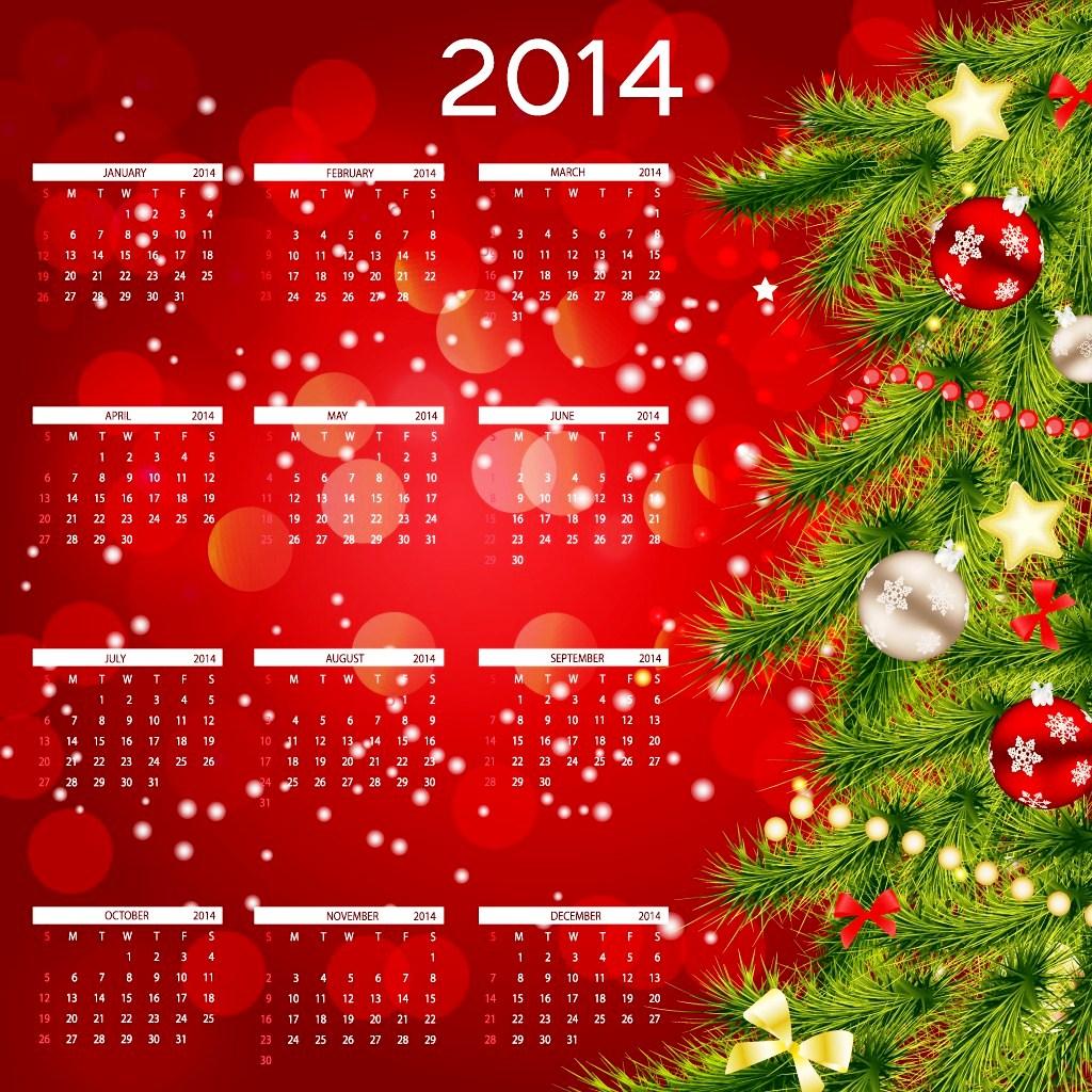 2014 Calendar Happy New Year HD Wallpaper