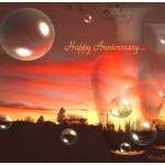 Bubbles in Happy Anniversary Wallpaper