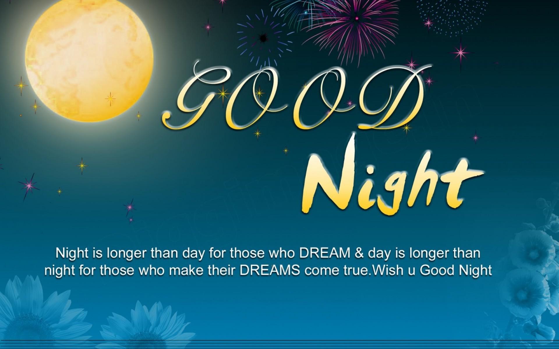 Good Night Sweet Dreams Wallpaper & pic