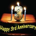 Happy 3rd Anniversary HD Wallpaper