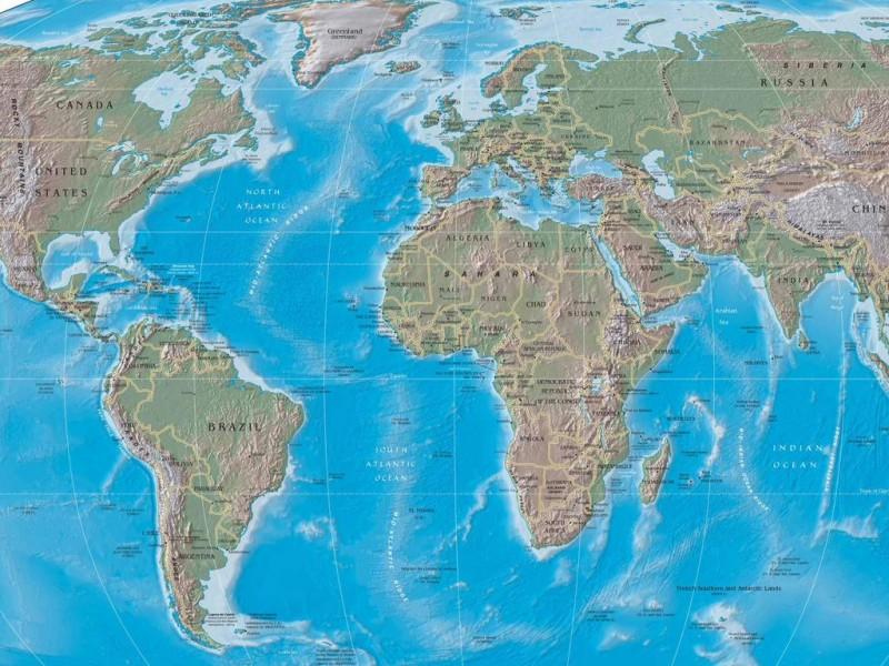 World Physical Map Photos & wallpaper