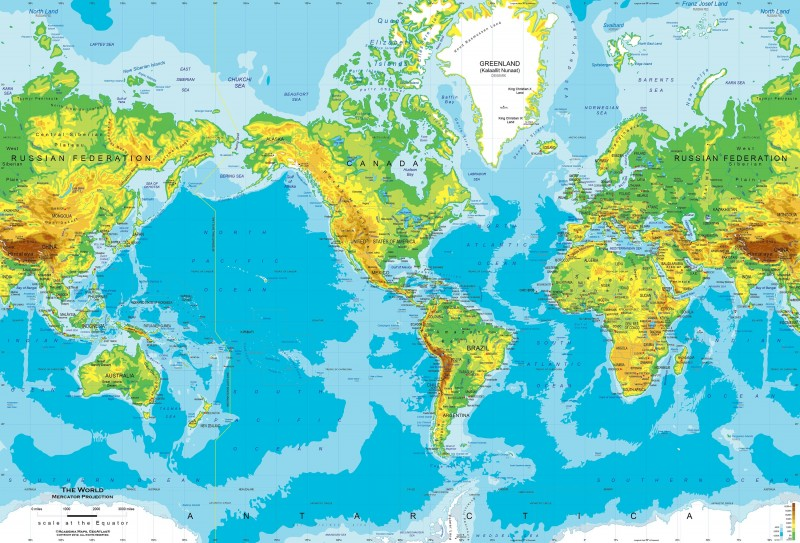 World Physical Map Pictures