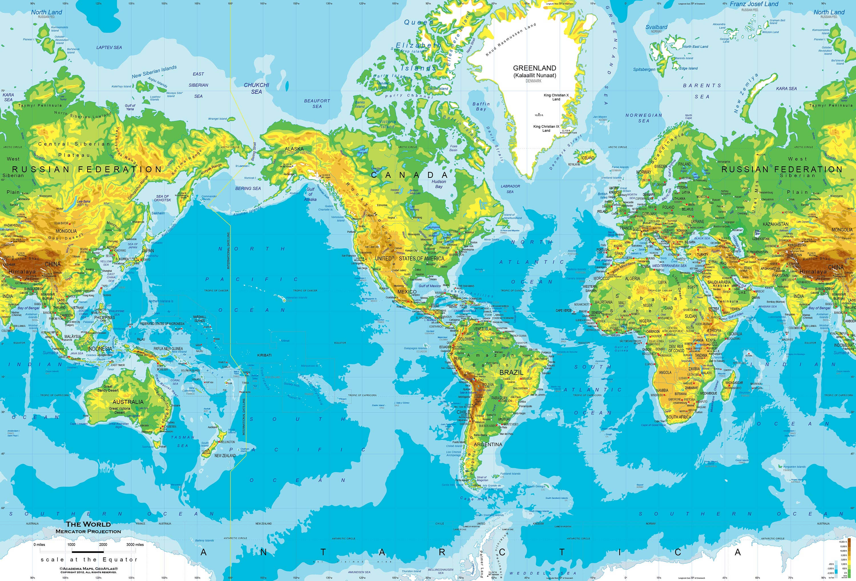 World Physical Map Wallpapers Pictures Hd Wallpapers