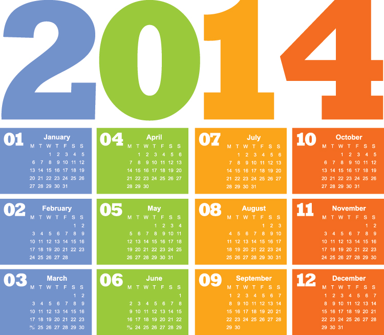 Beautiful 2014 Calendar Wallpapers With Holidays