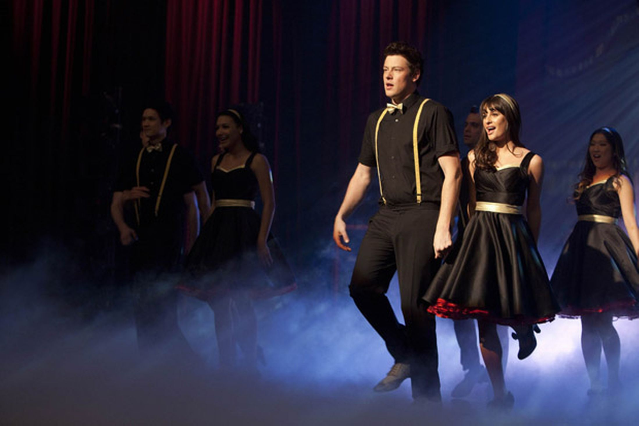 Glee On My Way Lea Michele as Rachel and Cory Monteith