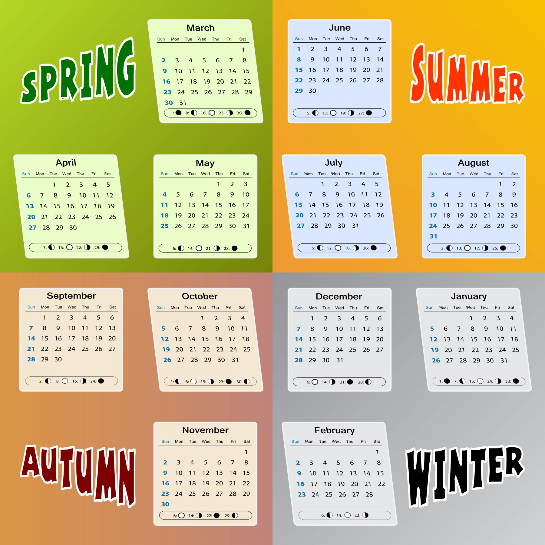 Printable Beautiful 2014 Calendar Pictures