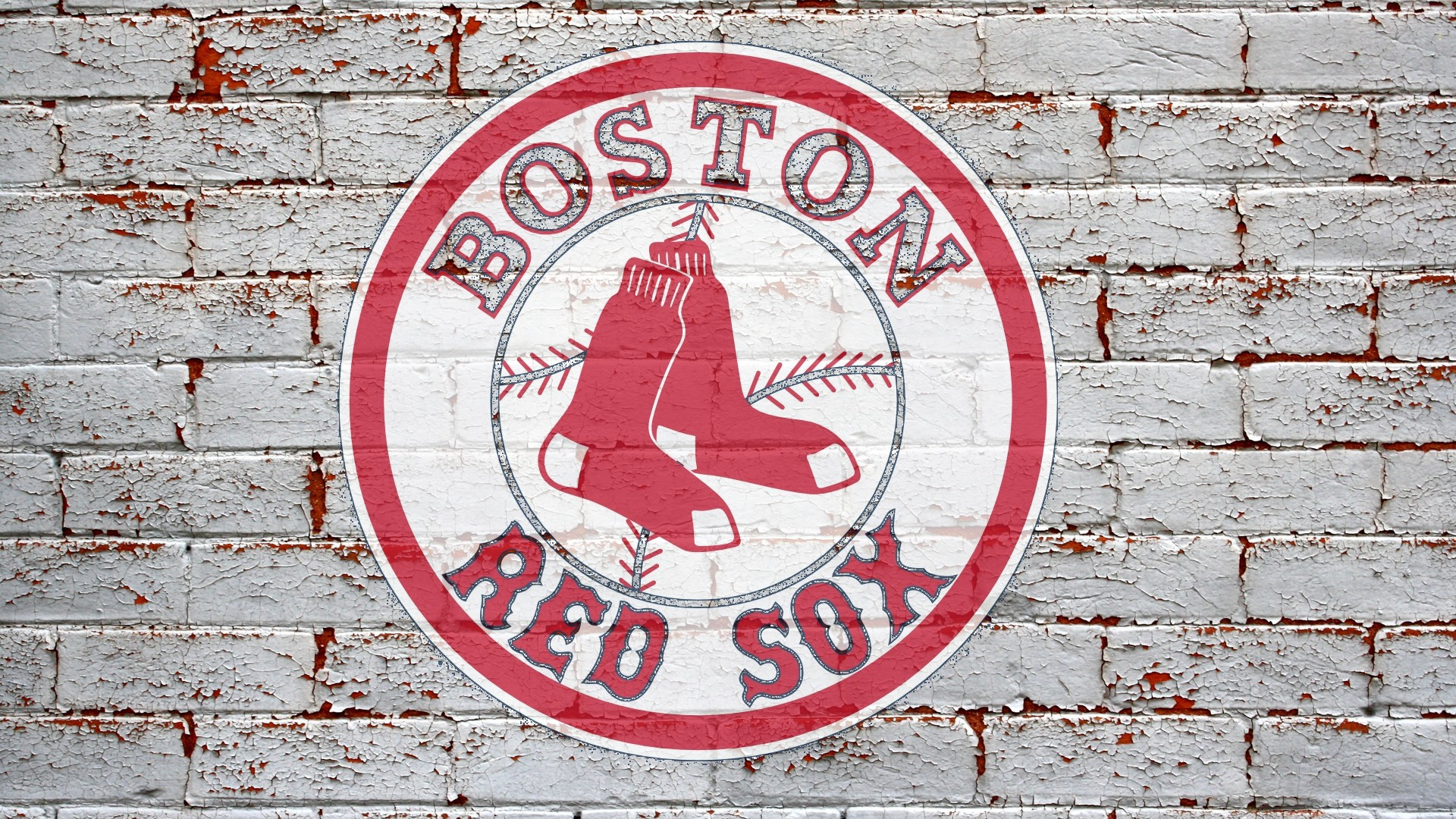Boston Red Sox Logo on The Wall