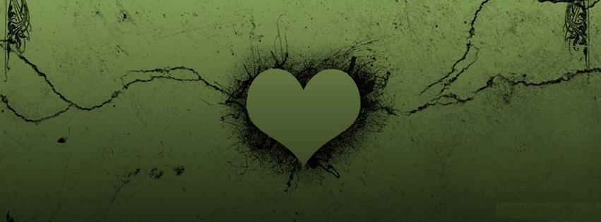 Cute Love Heart Facebook Cover Photo