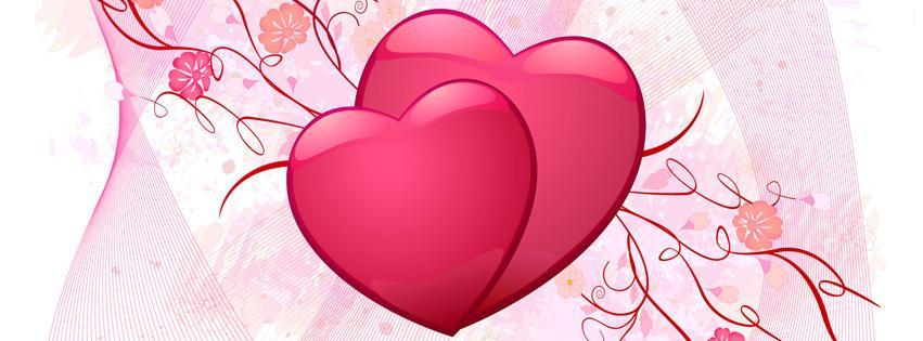Heart Vector Love Facebook Cover Photo