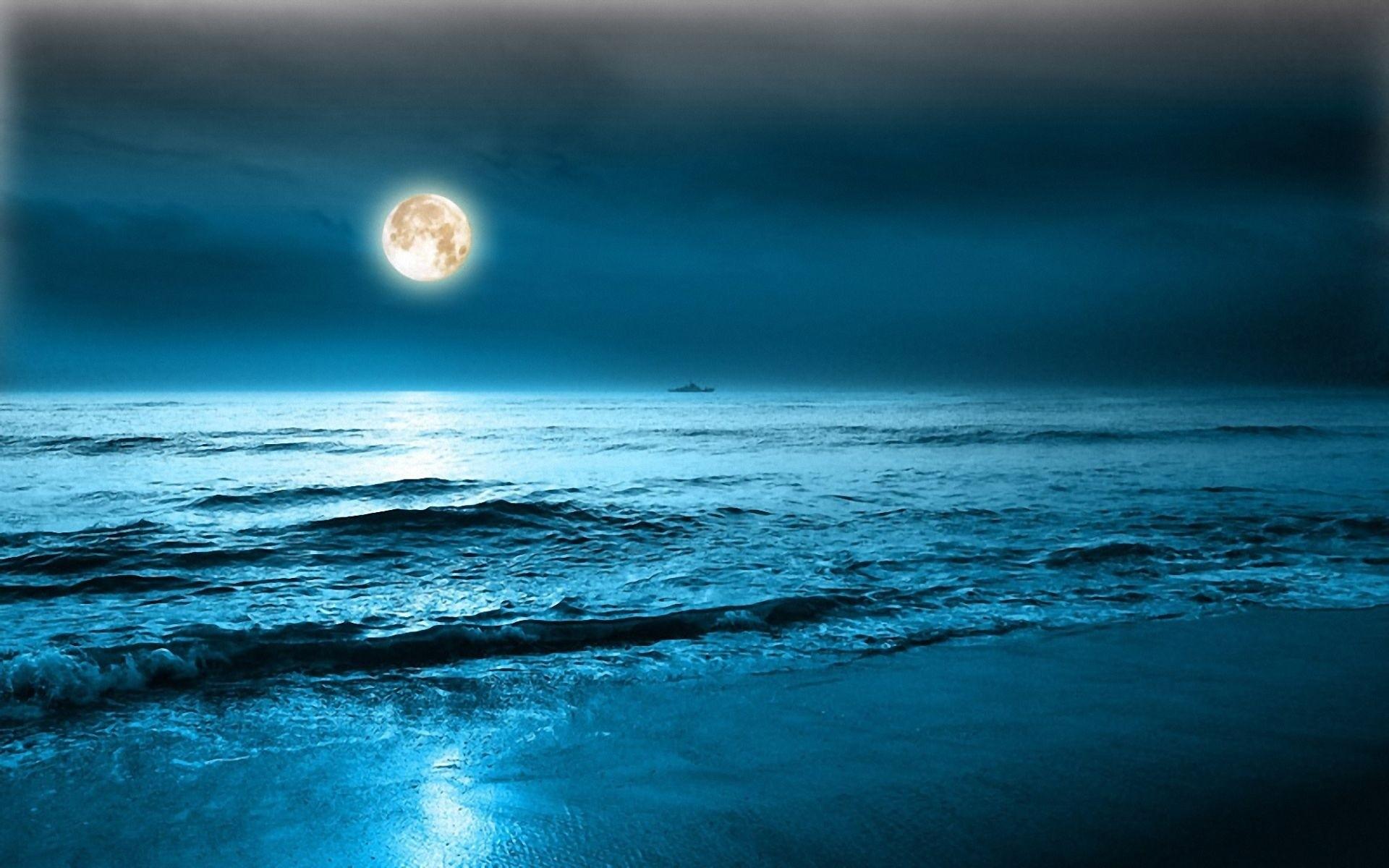 beach and moonshine