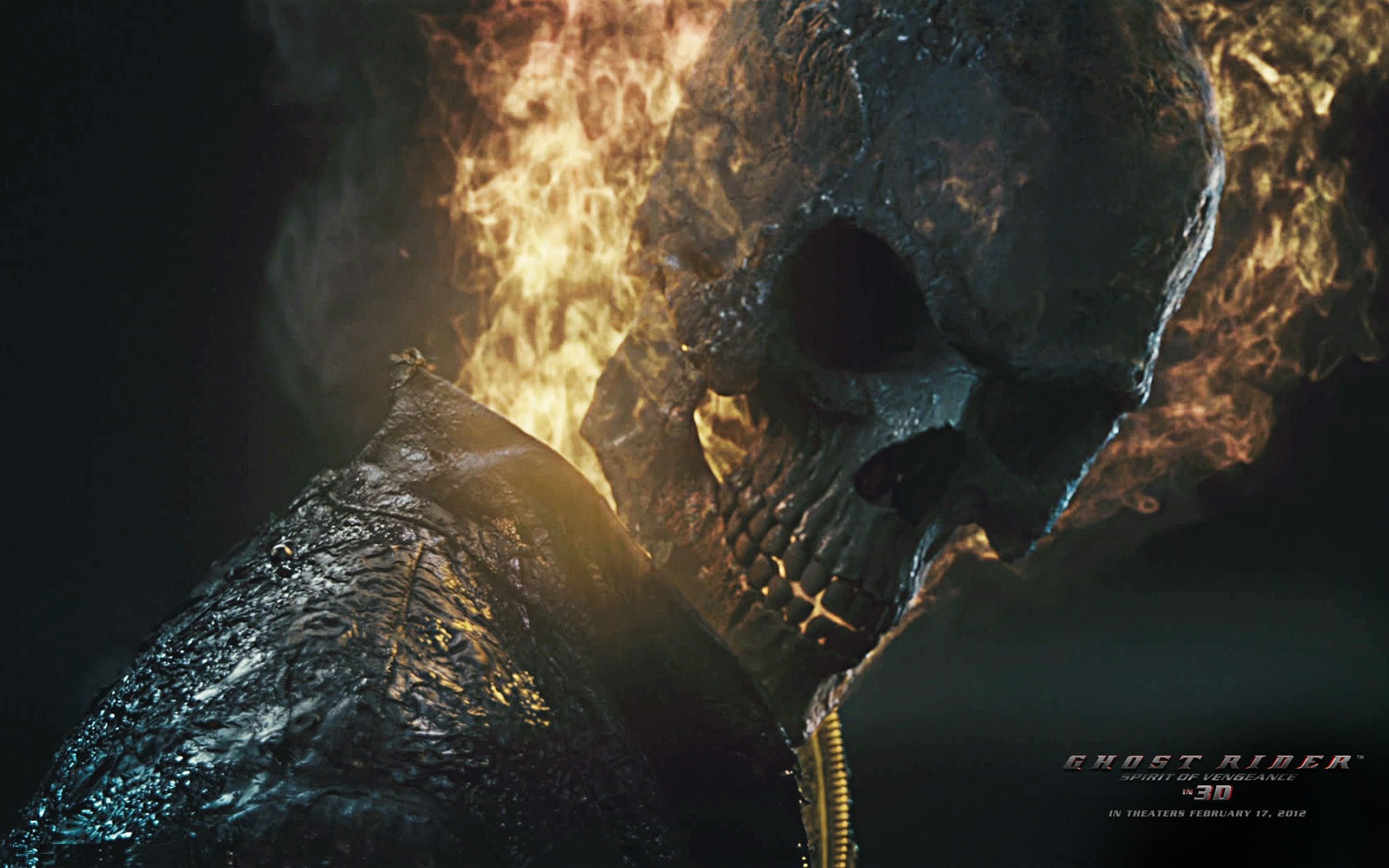 ghostrider 2 flaming skull