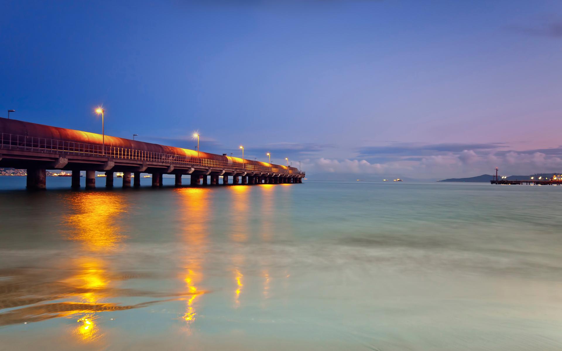 lights at beach