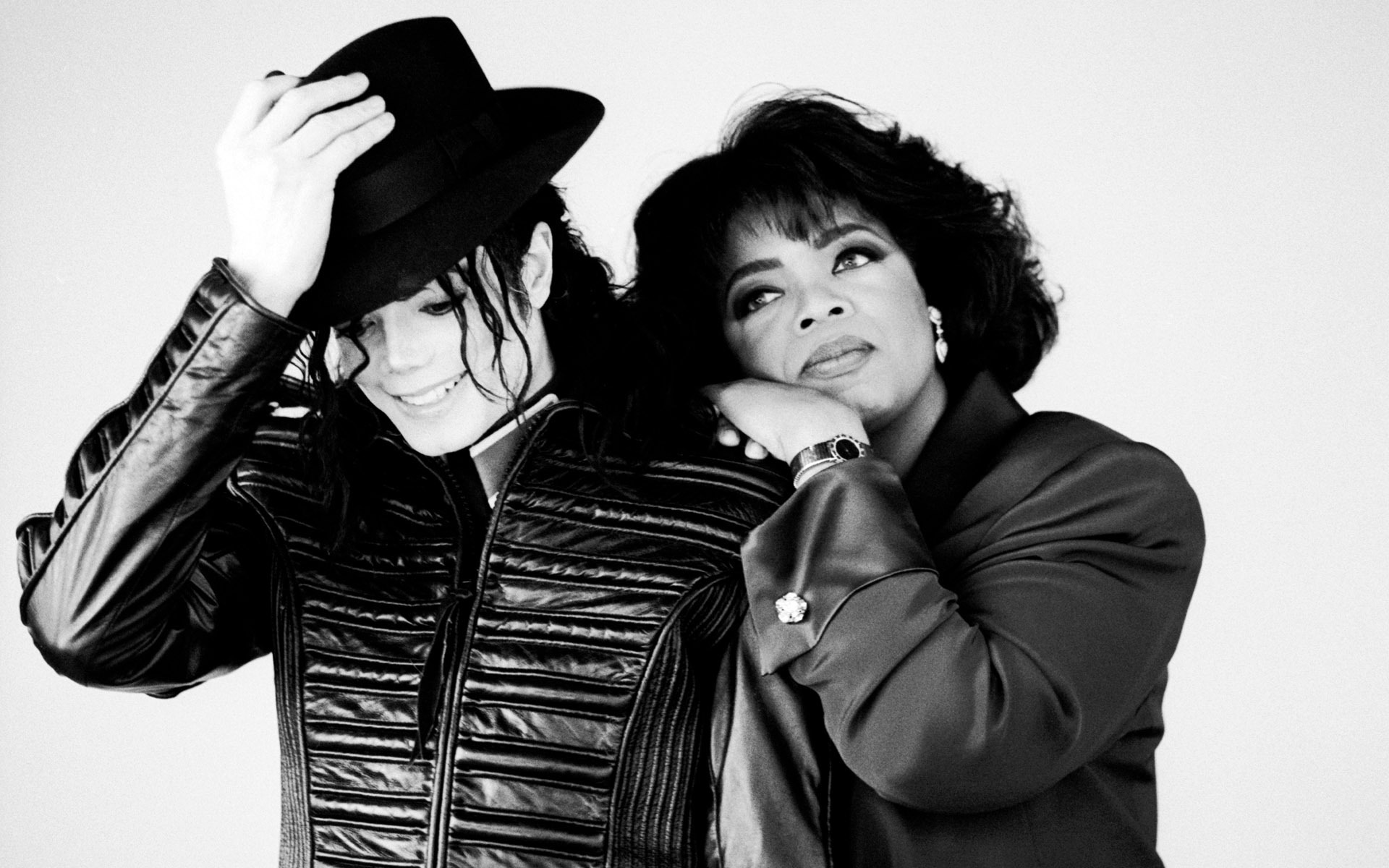 Michael Jackson and Oprah Winfrey