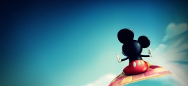 mickey mouse sky wallpaper