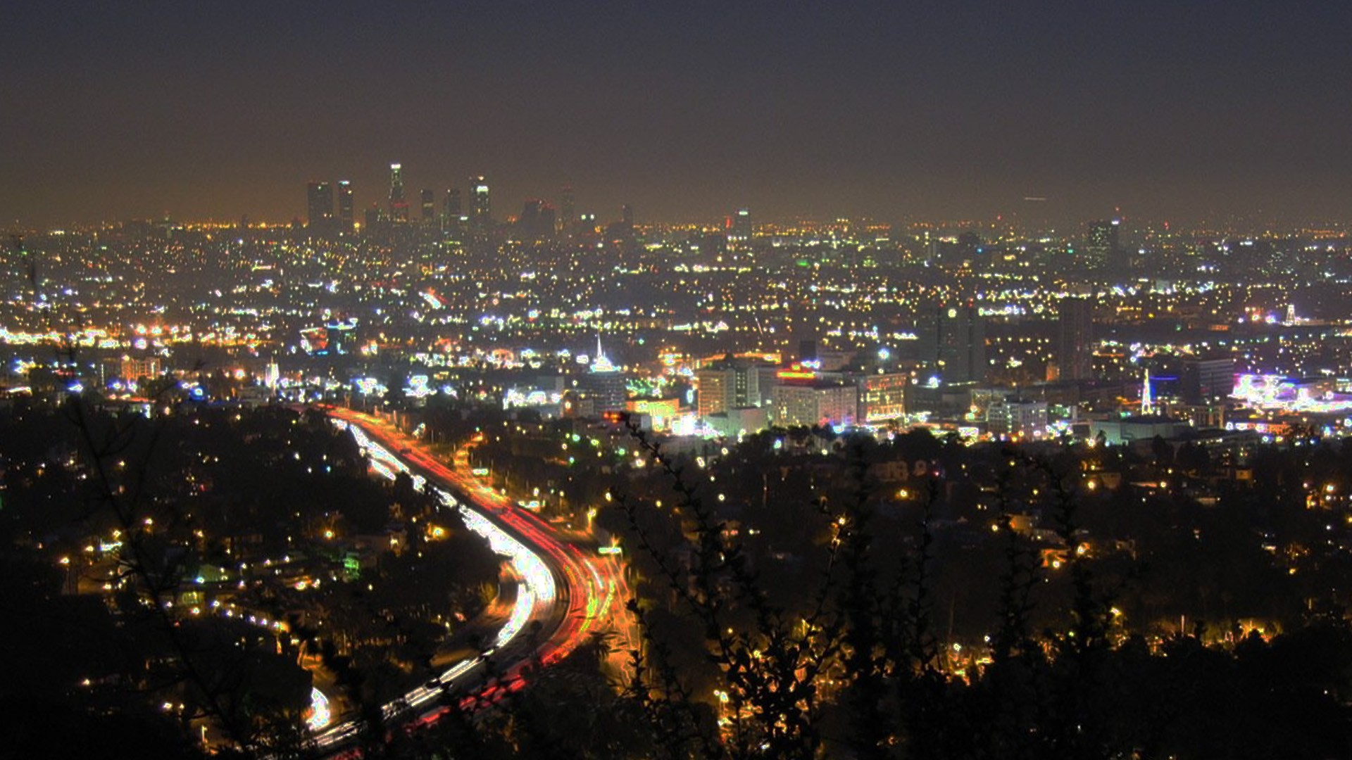 night time in los angeles
