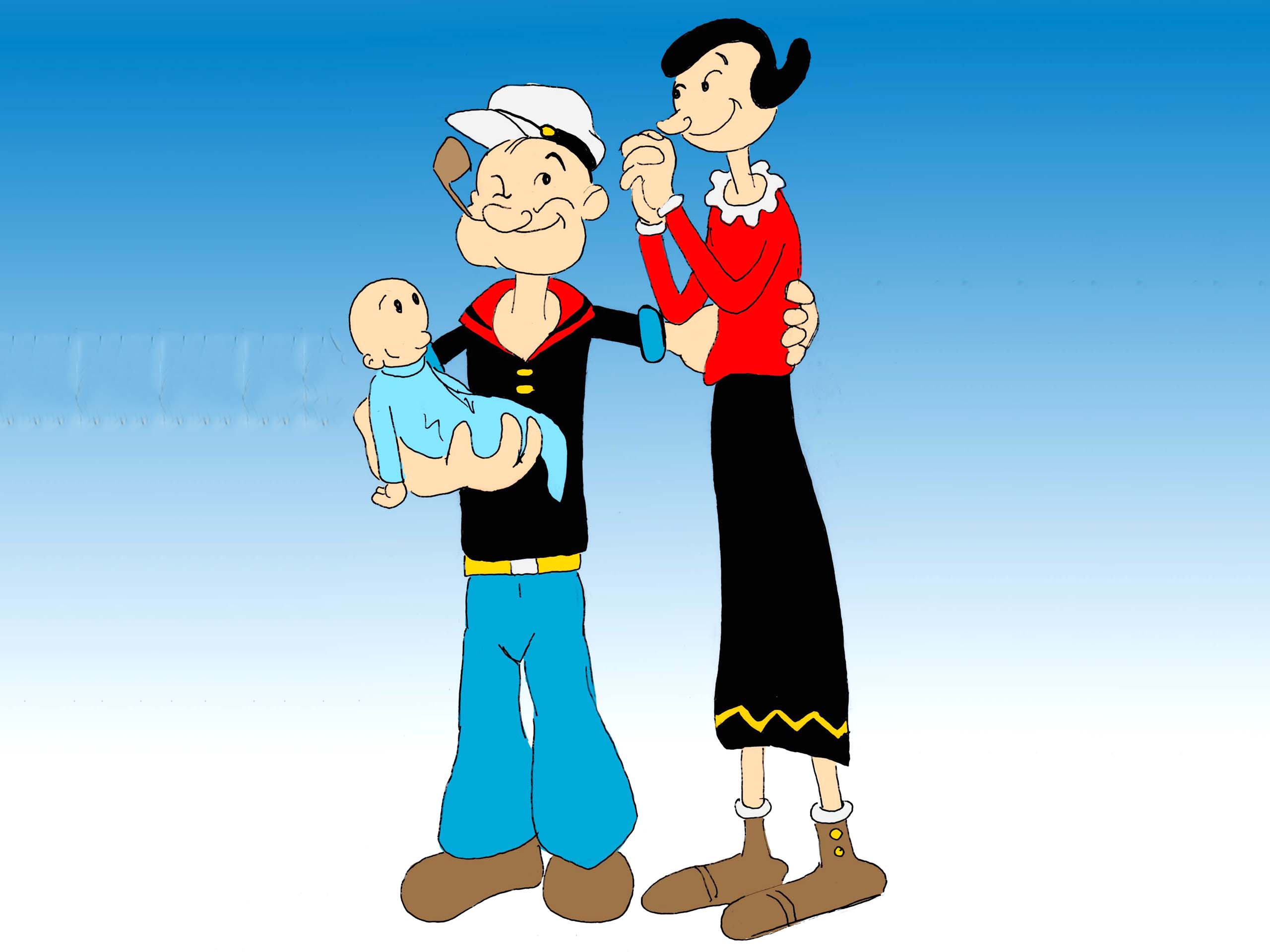 popeye with family
