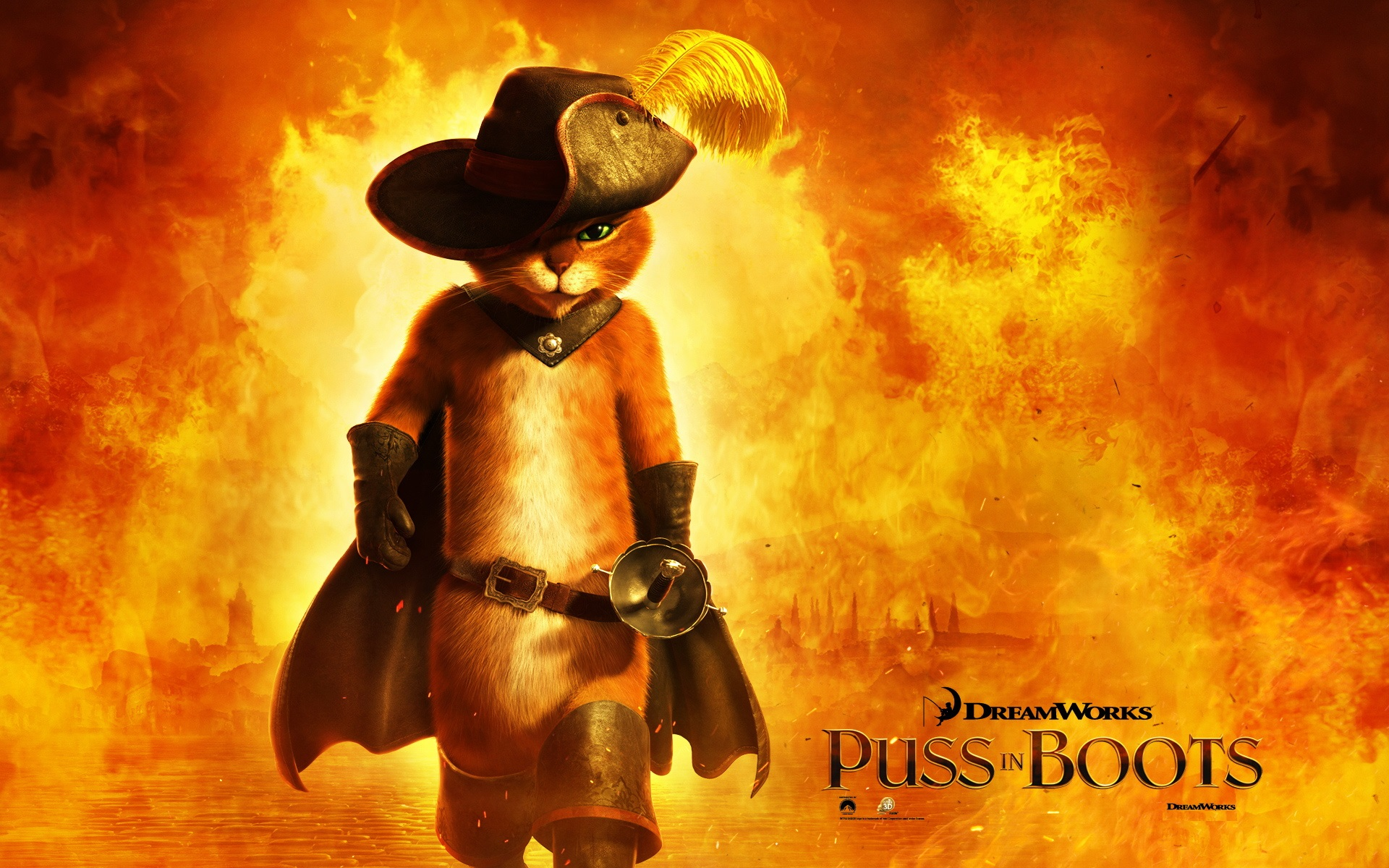 puss in boots fire