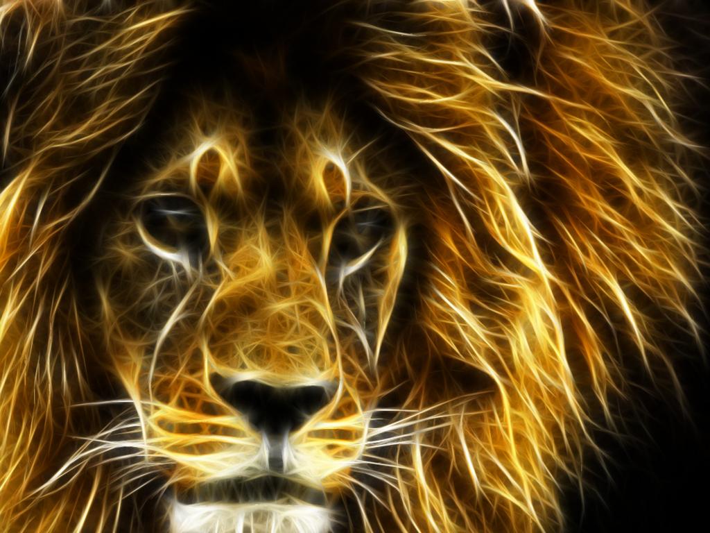 Nice 3D Lion wallpaper