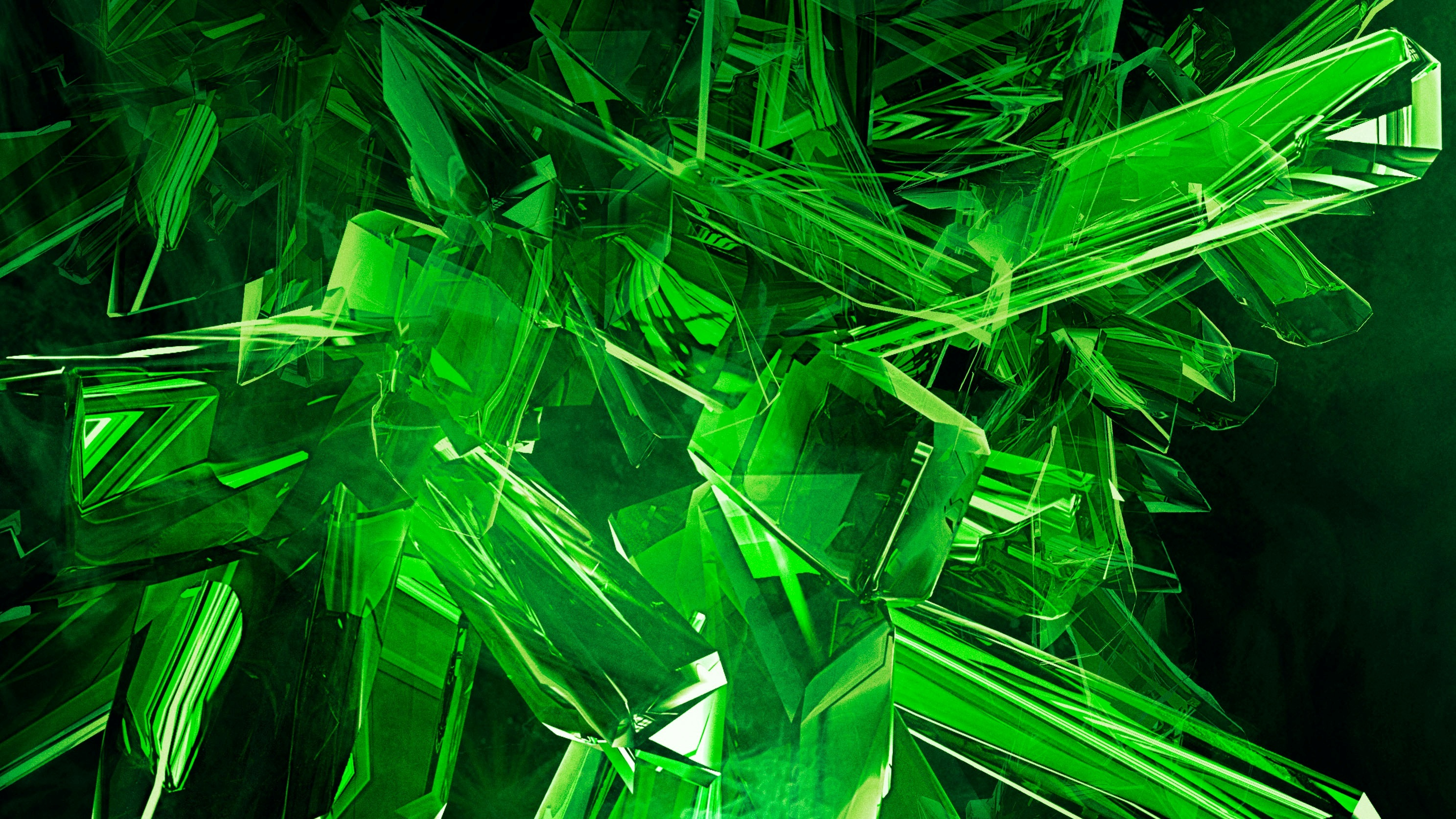 Green 3D Abstract