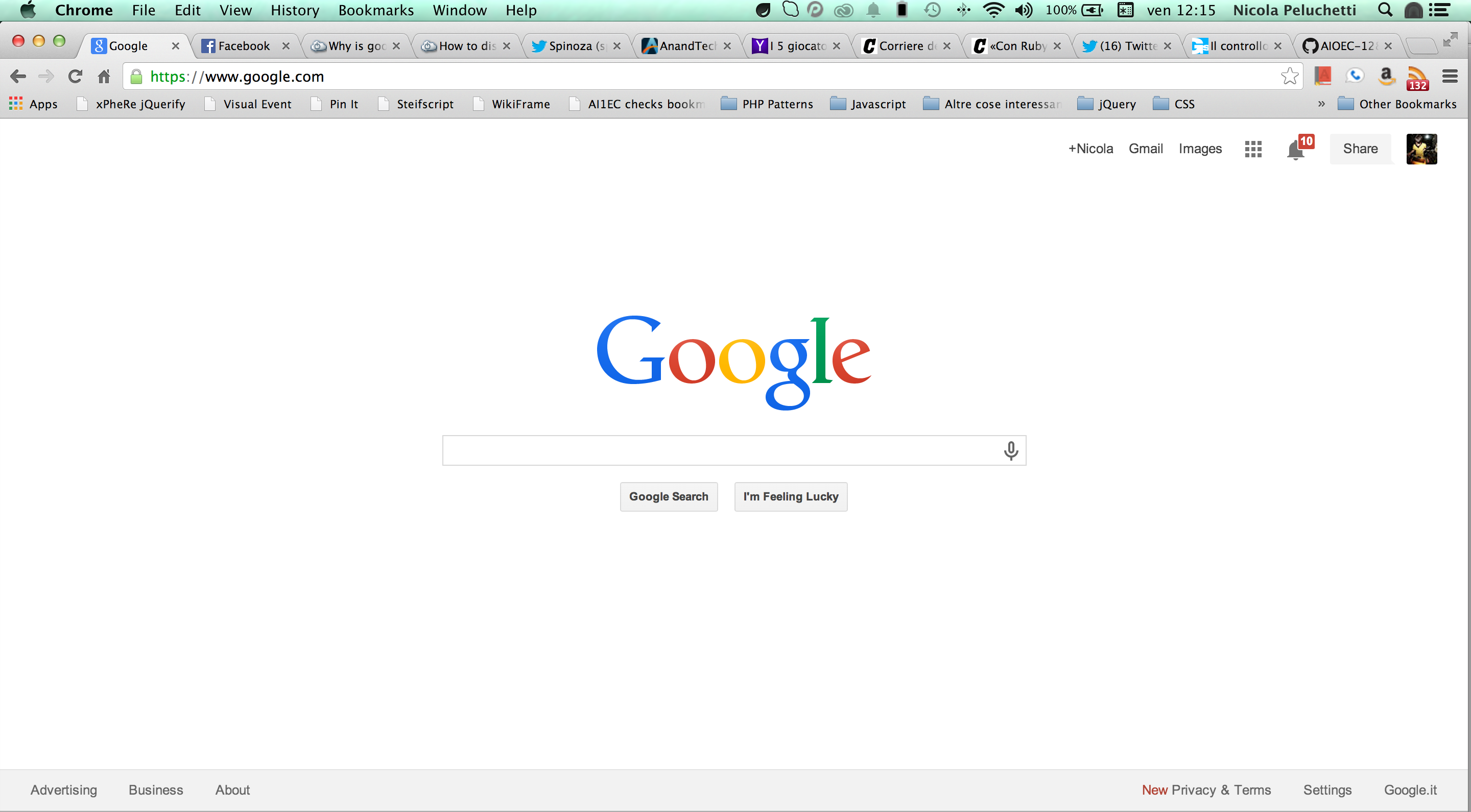 google my homepage