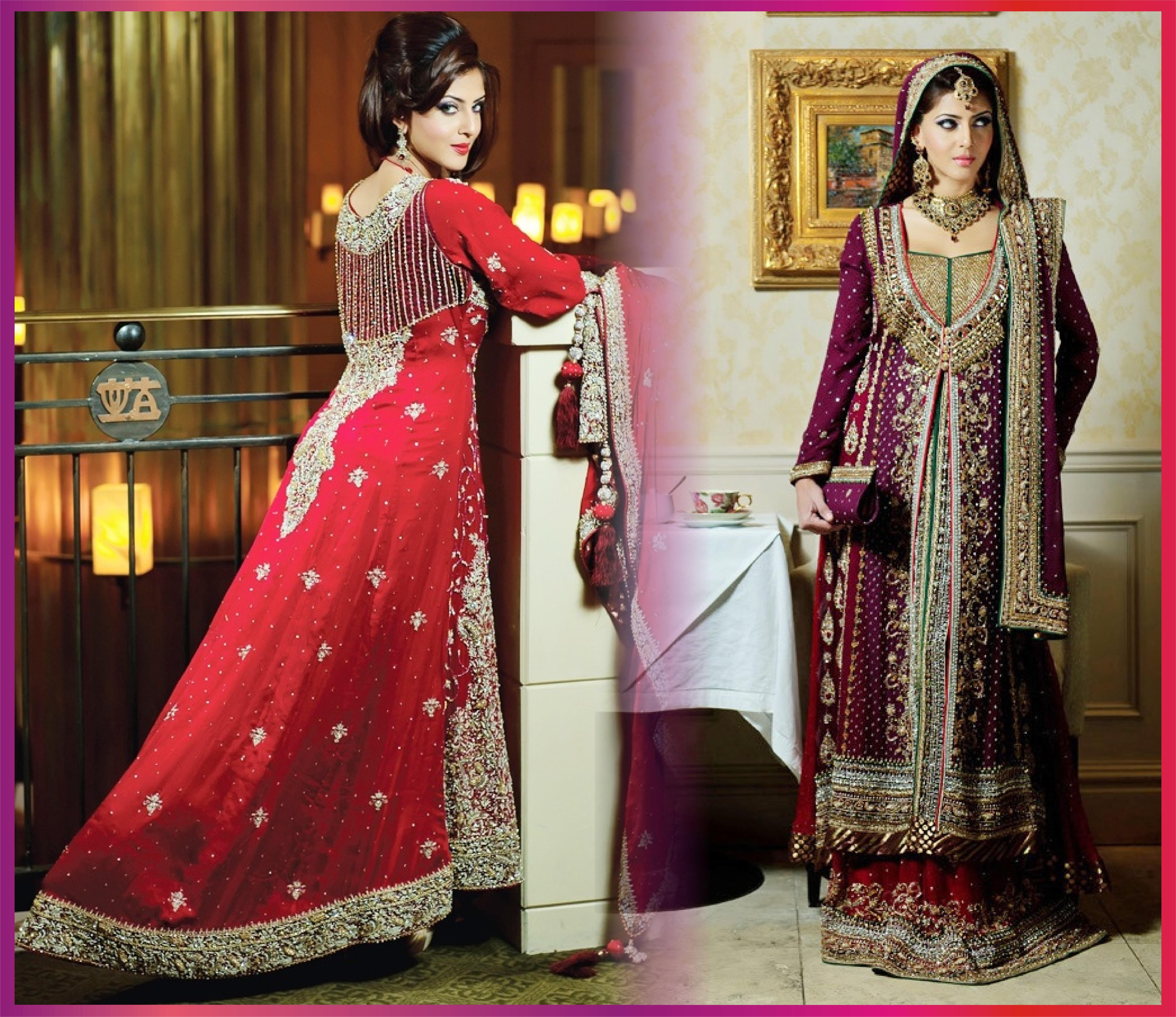 Latest fashion wedding dresses pakistani 48