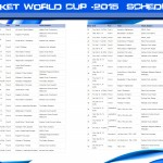 Cricket World Cup 2015 Schedule