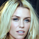 Abbey Clancy Golden Hairs N Cute Eyes Face Closeup