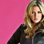 Abbey Clancy Pink Background Wallpaper