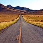 Beautiful road landscape image