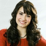 Demi Lavato in Red Shirt Wallpaper
