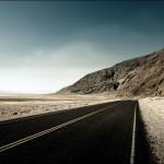 Landscape empty desert road