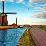 Mill river road landscape netherlands