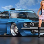 beautiful girl with car high quality wide wallpaper
