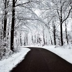 beautiful nature snow road