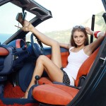 car and beautiful girl photo wide hd wallpaper for background free