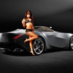 car and girl wide hd wallpaper for background free gilrs photos