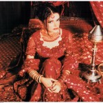 red bridal dress image