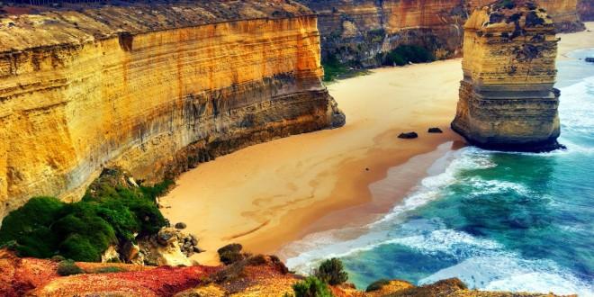 Big Cliffs and Sea Waves