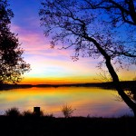 Dreamy lake sunset wide hd wallpaper