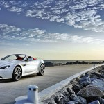 aston martin v12 zagato white car wallpaper