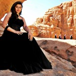 hansika motwani hot black dress high definition wallpaper